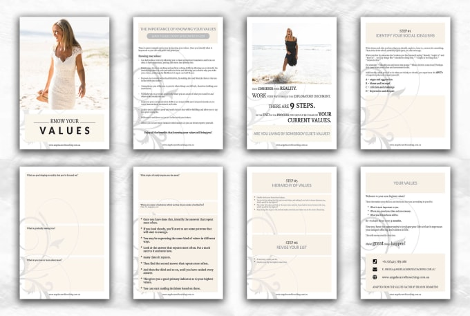 design PDF workbook, worksheet, lead magnet and ebook