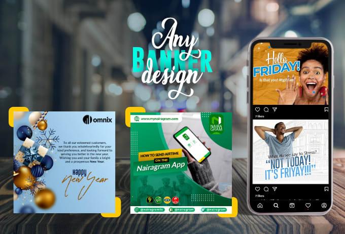 create any social media ads banner design