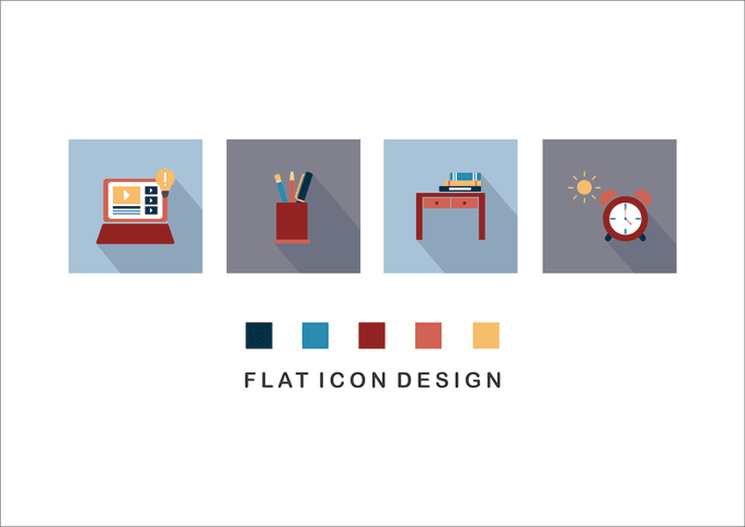 design flat icon for your website