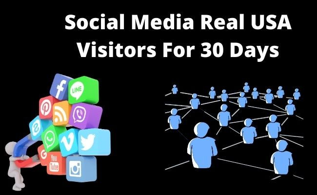 bring organic web traffic real visitors for 30 days