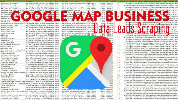 do data scraping from google maps