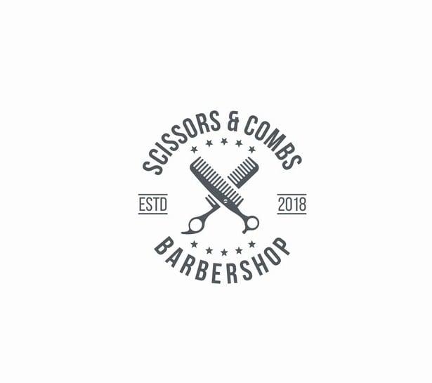 design barbershop  logo with satisfaction guarantee