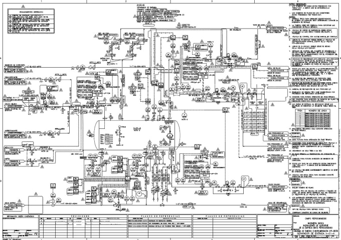 Do a engineer process flow diagram in autocad by FedesousaFiverr