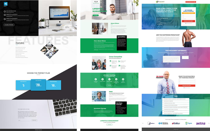 design an exceptional wordpress or shopify landing page