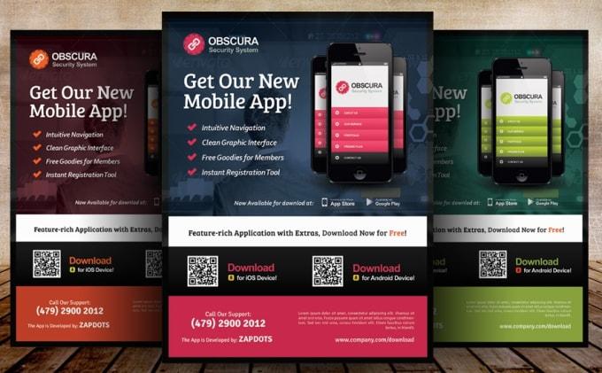 design promo flyer for your App