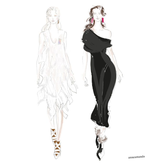 Draw A Fashion Illustration Of Your Wedding Dress By Annerasilainen