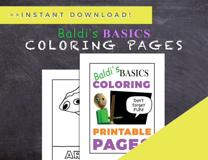 Sell You Baldis Basic Coloring Pages Ebook By Themodernmystic Fiverr