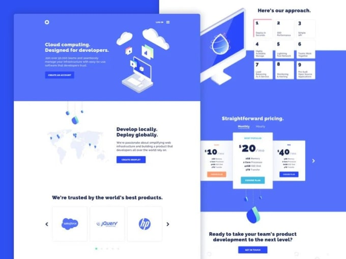 design professional high converting landing page