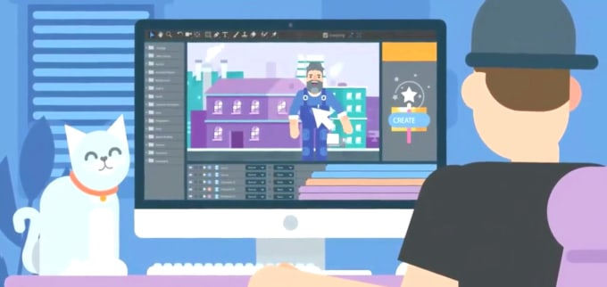 create 2d animation video and 2d explainer video with script services