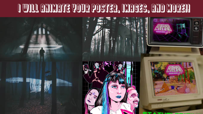 animate your digital poster and images to make it pop