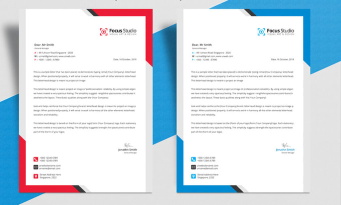 Design Business Letterhead Template In Ms Word Editable By Unique Itbd