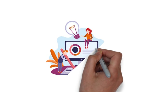 create a whiteboard explainer video