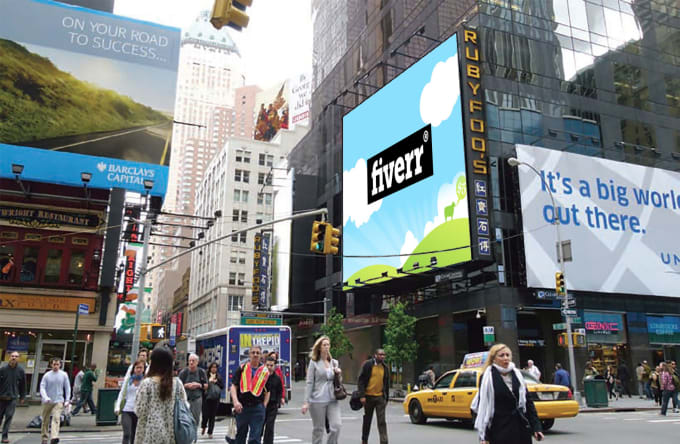 Design Ten New York City Banner Or Billboard Of Your Logo Image Or Text By Bhumiksapara