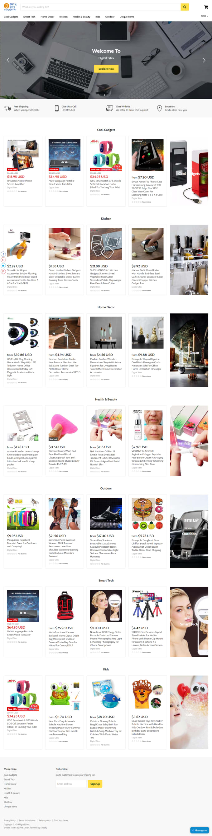 design shopify dropshipping website, shopify store
