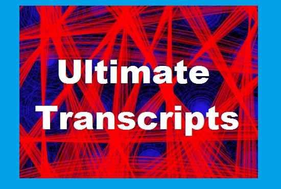 take care of all your transcription needs
