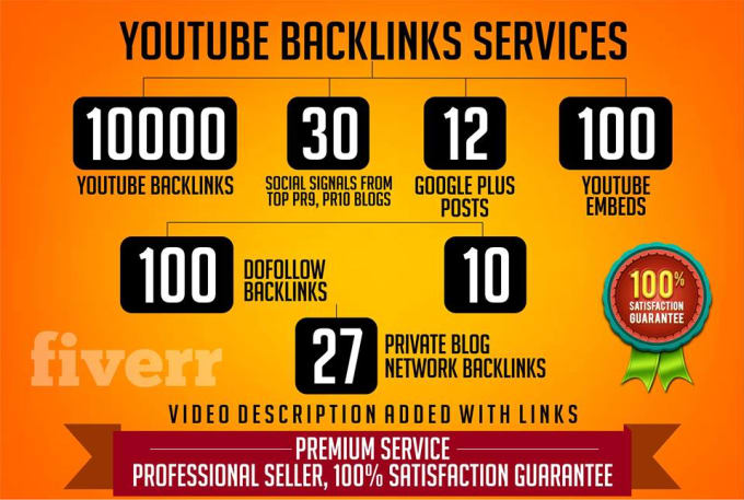 rank your youtube video to the top with 20k backlink, social