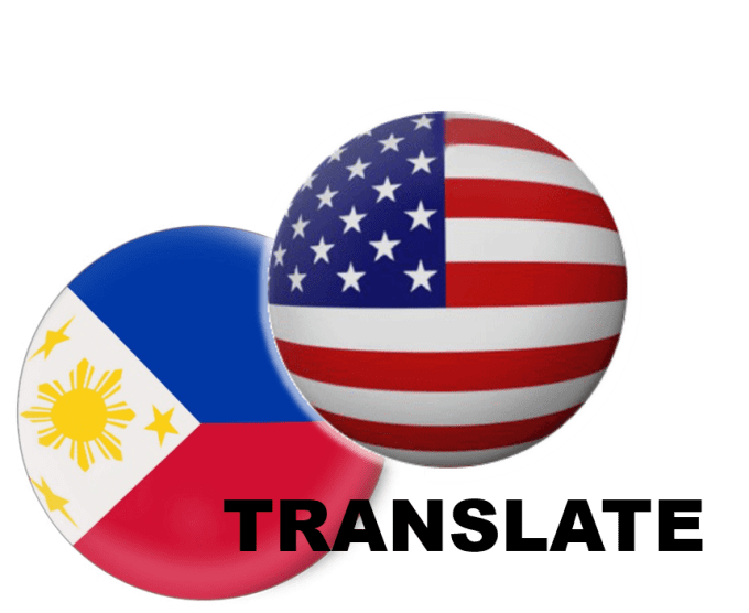 translate your english documents to filipino or vice versa