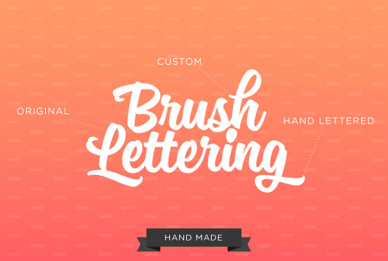 Create A Hand Drawn Logo In Brush Lettering Style