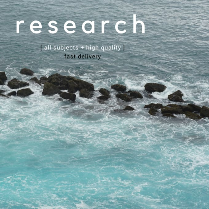 research any subject for you