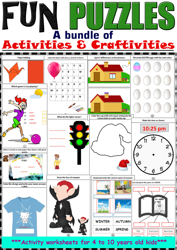 graphic about Printable Activity Books named offer you yourself 65 webpages printable recreation guide for kindergarten