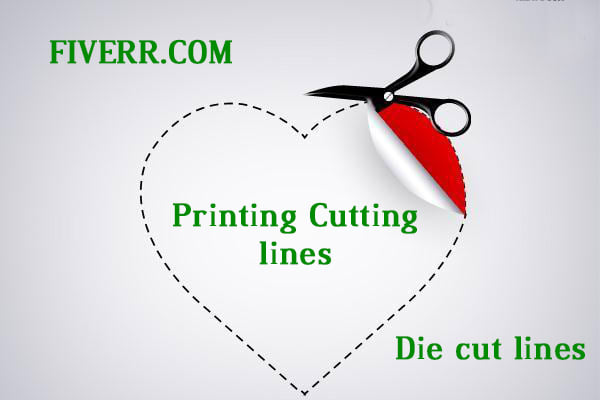 make cut lines or die cut lines and dielines for sticker or logo