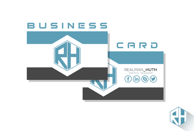 Design a new business card by realmanhuth design a new business card reheart Choice Image
