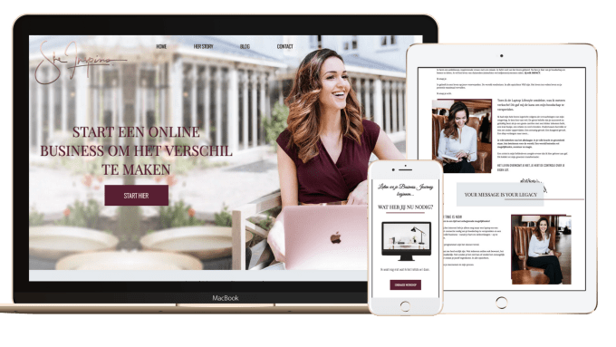 design or redesign a branded wix website for lady bosses