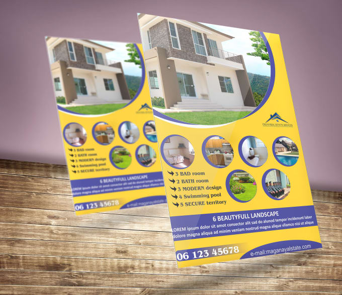 create superb flyer design unique style within 24 hours