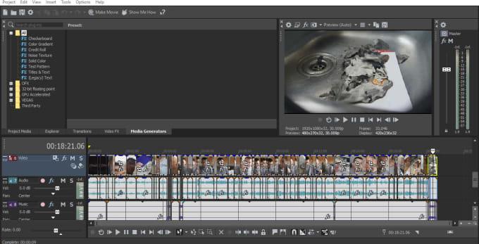 Risultati immagini per editing sony vegas