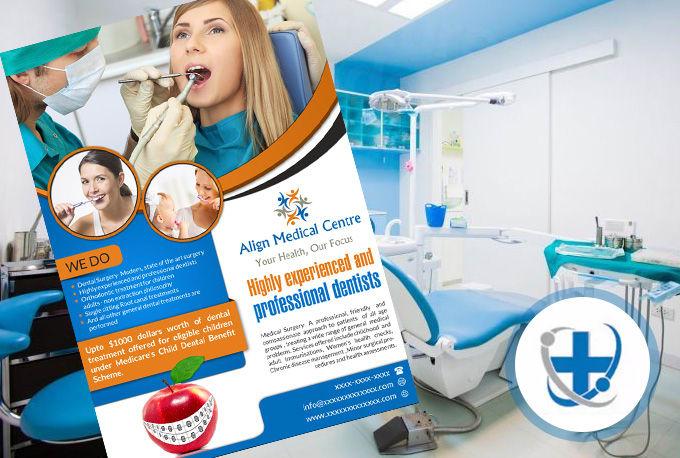 create professional medical flyer design