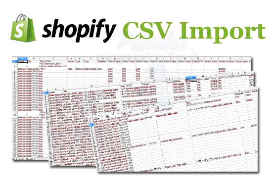 bulk upload products to shopify with CSV import
