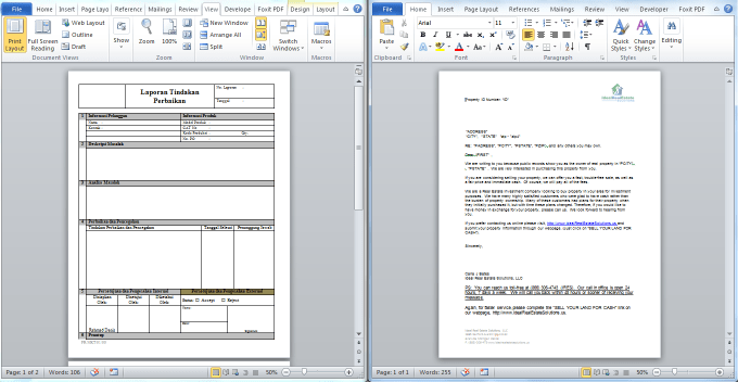 do ms word editing and automation vba