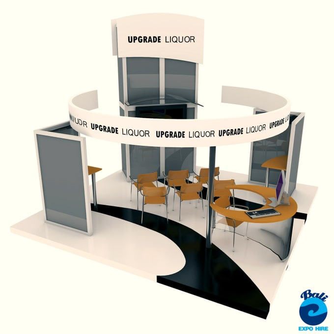 Exhibition Stand Or Booth : Create d exhibition stand booth kiosk design by meneliotorres