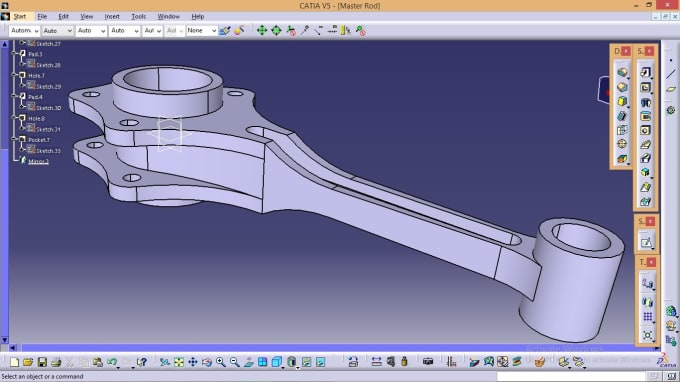 use catia to design what is required
