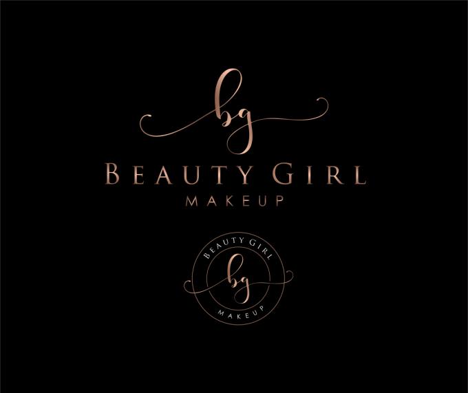 signature logo design with initials