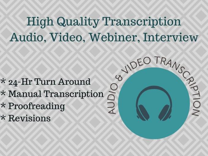 transcribe audio video webiner interview