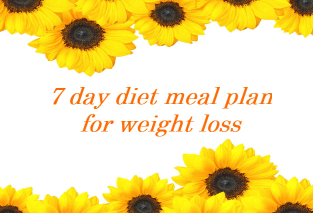 Make you a 7 day diet plan to help you lose weight by Mklenko