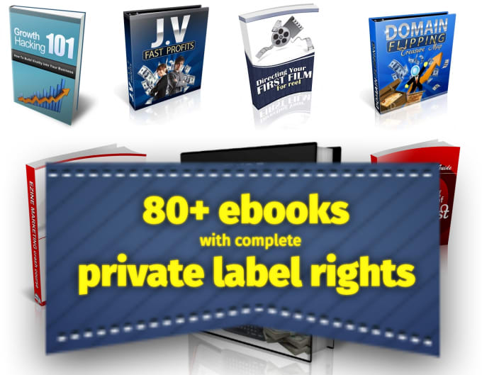 give you more than 80 ebooks with full private label rights