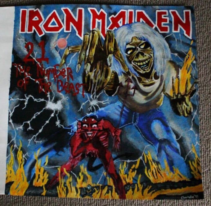 paint your favourite rock or metal album cover