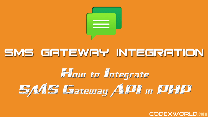 integrate any sms gateway into your existing website PHP