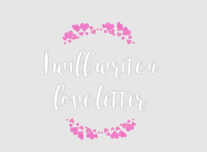 write a love letter from you to your significant other