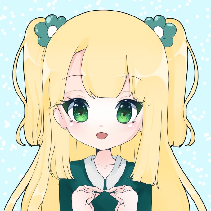 draw you a kawaii anime avatar by shiroppu
