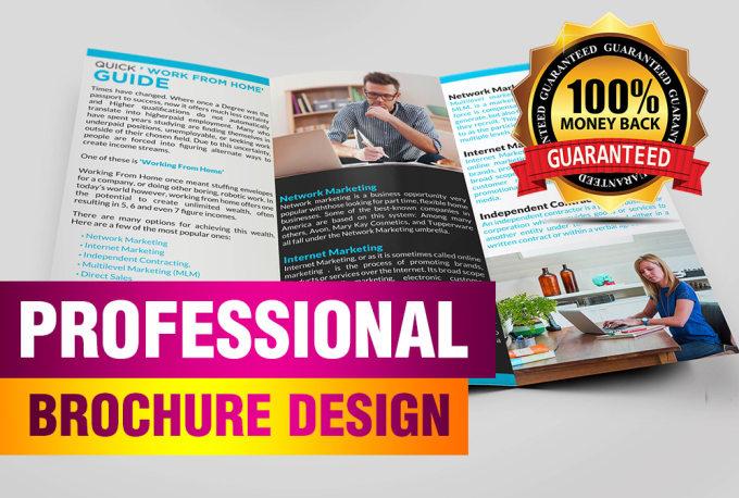 design a creative trifold brochure design by shine911