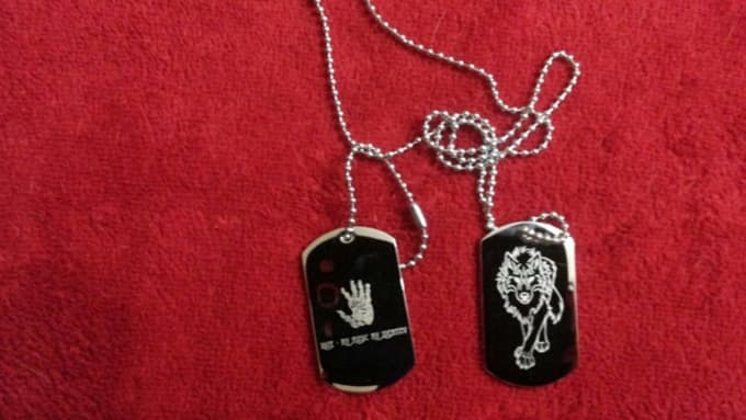 create custom dog tags laser engraved logo by biancaana