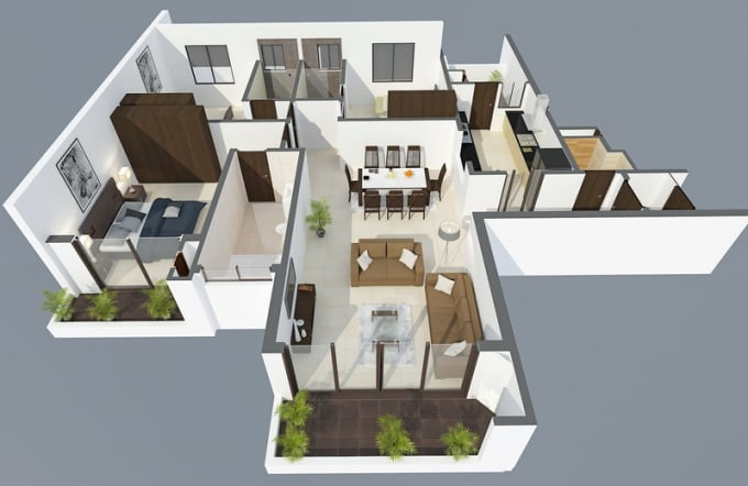 render interior exterior view by 3ds max and sketchup fast