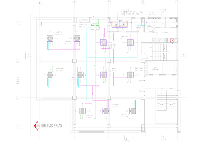 i will draw any hvac system layout drawing for autocad 2d