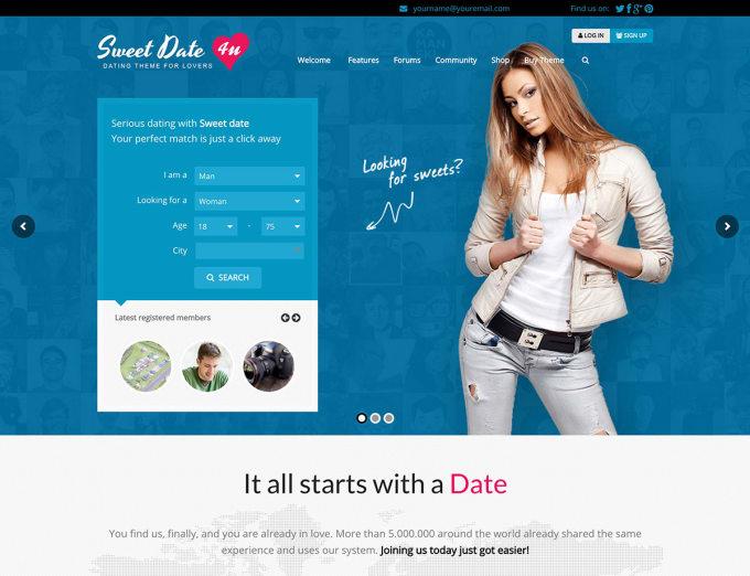 dating website on wordpress