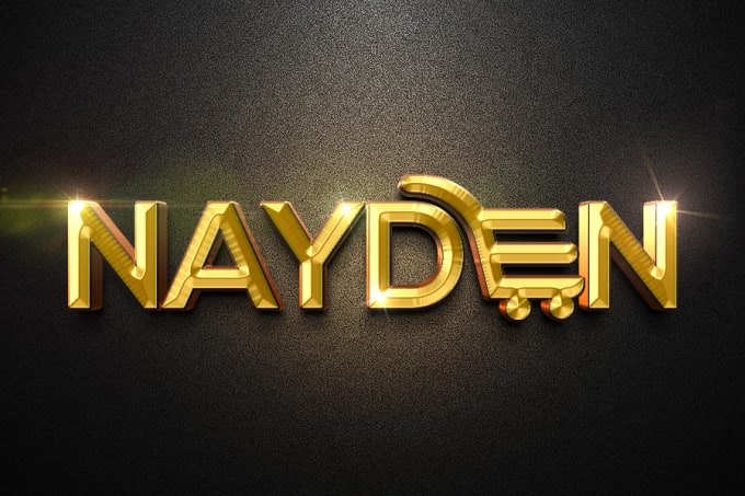 transform your logo in 3d glittering gold effect in 12 hours