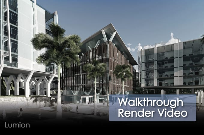 do a 3d walkthrough render in lumion