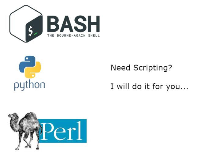 create bash shell,perl or python script